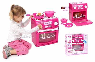 CUCINA GIOCATTOLO ROSA FORNO FORNELLI con luci CM 21,5 X 17,5 giocattolo bambina | eBay