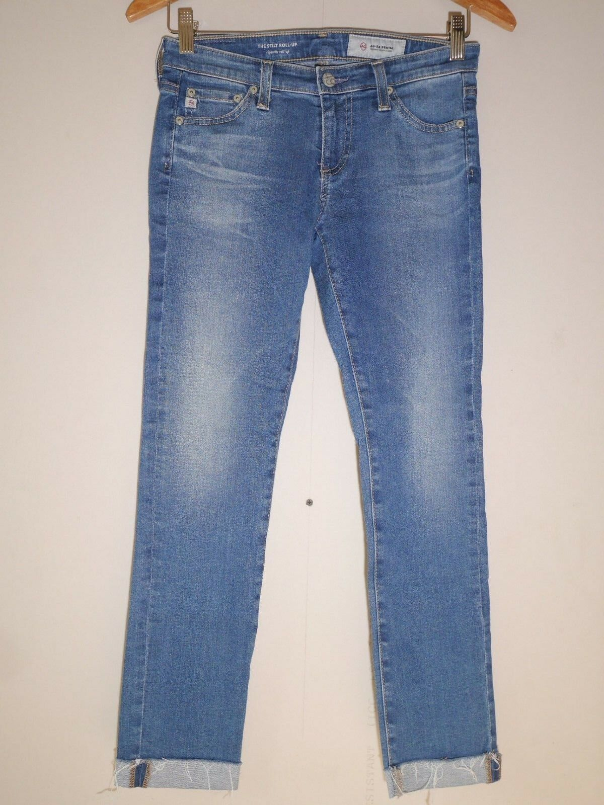 AG Jeans The Stilt Roll-Up - Cigarette Crop in 12 Years Canyon Size 25