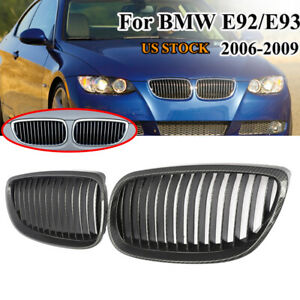 FRONT GRILLS BLACK FOR BMW E92 E93 from 2010 LCI COUPE CABRIO SPOILER BODY KIT