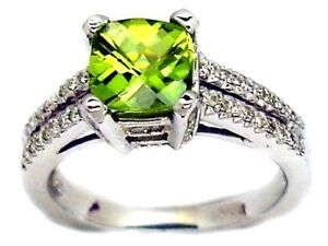STUNNING-2-00CT-DIAMOND-PARIDOT-CUSHION-CUT-ENGAGEMENT-RING-14K-WHITE-GOLD