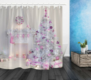 Image Is Loading US STOCK 72 034 Waterproof Fabric Bathroom Pink