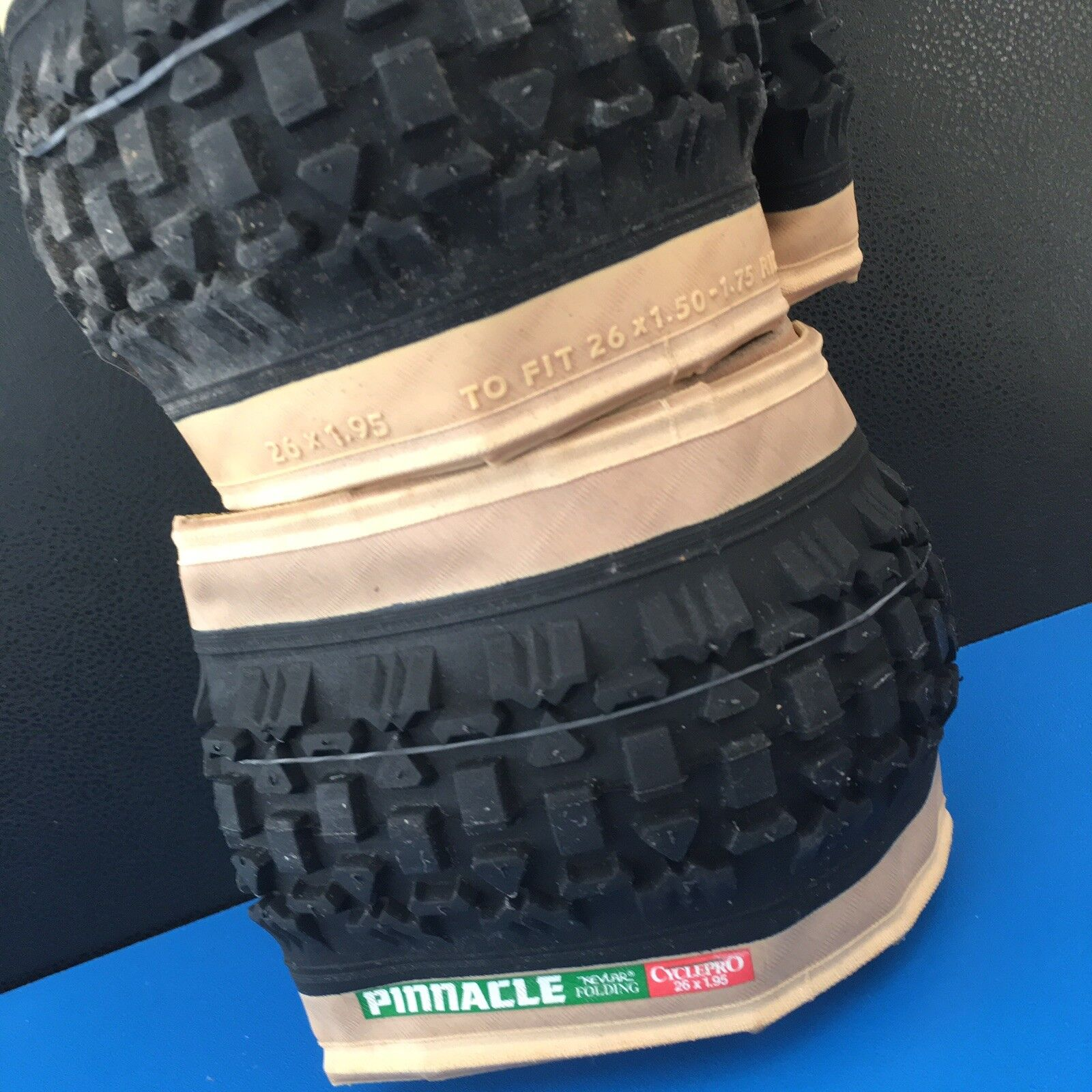 2= Folding  Bicycle Tire PINNACLE  ATB WITH KEVLAR BELT & Bead 26 x 1.95 ITB NEW  all in high quality and low price