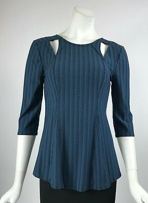 Elana Kattan Casual Key-Hole Tunic Blouse 3//4 Sleeves Top NWT Sz Sm