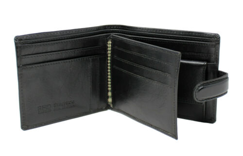 Starhide Mens RFID Real Leather Wallet ID Window Coin Purse Gift Boxed 835 Black