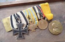 SACHSEN  Ordensspange   1870 / 71 EK II Nichtkämpfer  Kreuz 1866  usw.