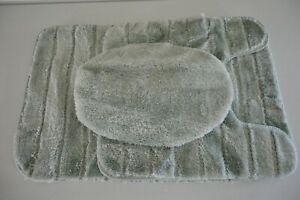 Mohawk Home 3 Piece Bath Rug Set Aqua Blue 42694338533 | eBay