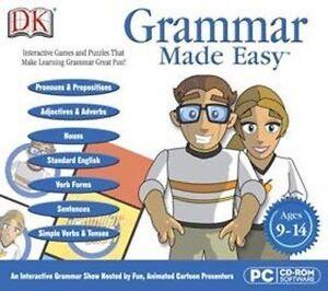 DK GRAMMAR MADE EASY  Win 7 8 Vista XP  Make Learning Grammar Great Fun!  NEW