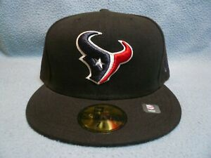 New-Era-59fifty-Houston-Texans-Solid-BRAND-NEW-Fitted-cap-hat-Black-NFL
