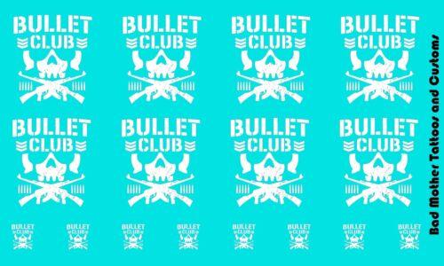 Scale Custom Waterslide Decals OPAQUE Bullet Club Logos White