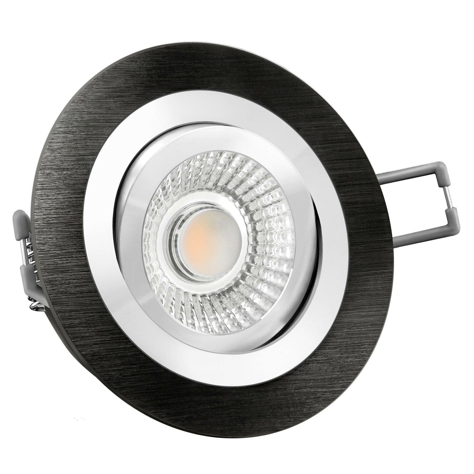 RF-2 Einbauspot rund Alu schwarz schwenkbar LED-Modul 15W, warm weiß dimmbar | Günstige  | Elegante Form  | Schenken Sie Ihrem Kind eine glückliche Kindheit