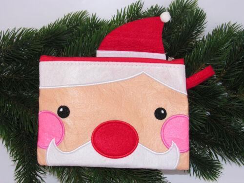 Filz Umschlag Motiv Nikolaus Weihnachtsman mit Reißverschluss Brief  Posten 5680