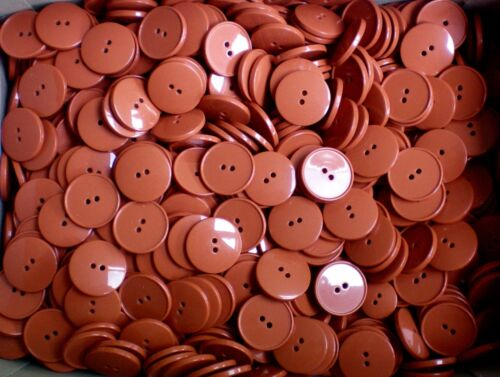 W333 25mm 40L Burnt Orange Terracotta Brown 2 Hole Jacket Craft Sewing Buttons