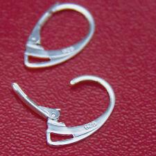 10pcs 925 Mark Lever Back Earrings Sterling Silver Ear Hooks Jewellery DIY UK