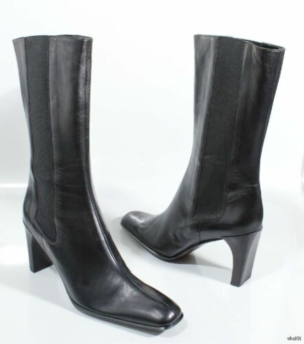 neri 5 Anne New 'chelsy' nappa Italy 9 in pelle Stivali Made In Klein 0w6q74