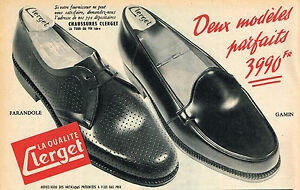 51f5933c48 PUBLICITE ADVERTISING 124 1954 CLERGET chaussures homme | eBay