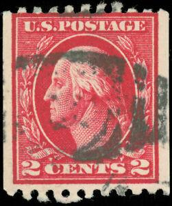 US-Scott-442-Used-Coil-Stamp-Perf-10-Horizontal-SCV-45-00