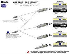 SILENCIEUX ARROW ALU DARK HONDA CBF 1000 / ST 2010/13 - 71423MI+71764AON