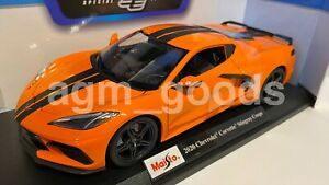 1-18-Maisto-escala-Corvette-Stingray-Coupe-2020-Naranja-Diecast-Modelo-Coche