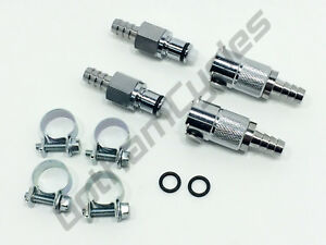 KTM OEM Gas In Fuel Line Fitting Black Quick Release Disconnect Coupling Set