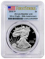 2016-W 1 Oz Proof Silver Eagle PCGS PR69 DCAM FS (Flag Label) SKU42936