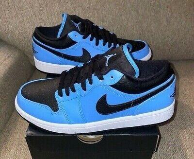 Nike Air Jordan Retro 1 LOW University Blue Black 553558-403 AJ1 ...