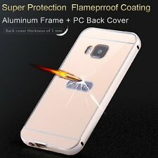 Shock proof cases fashion metal aluminum acrylic back case for htc one m9  cover