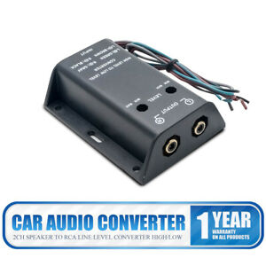 Car-Stereo-Audio-RCA-Speaker-High-To-Low-Level-Line-Output-Converter-amp-Wiring