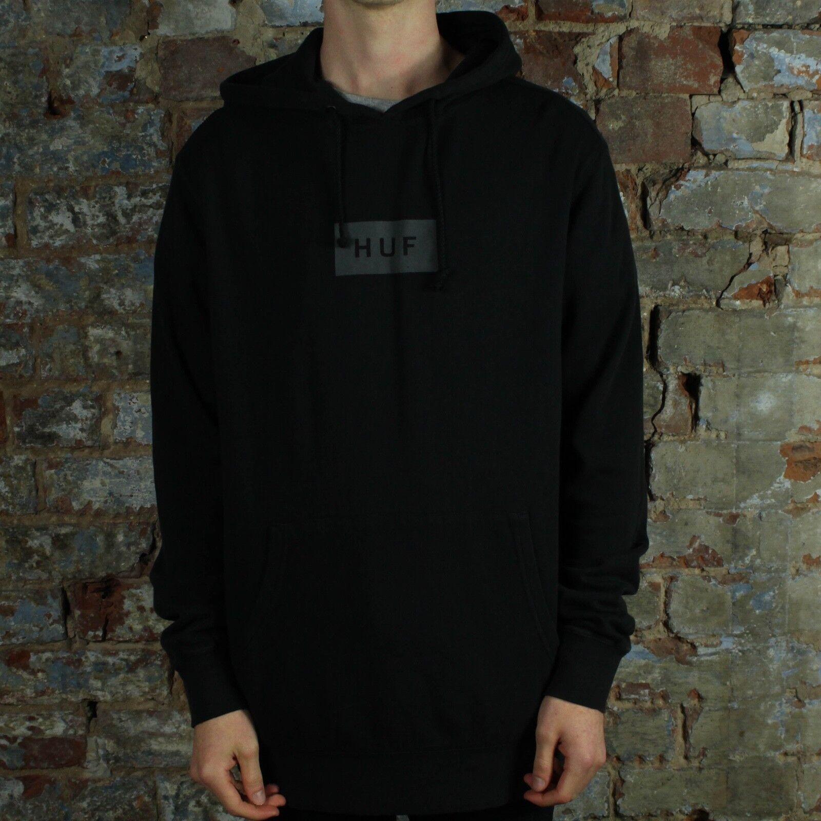 HUF Bar Logo Pullover Hoodie Hooded Sweatshirt – schwarz in Größe L