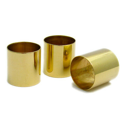 Choice of 7 SIZES  22 mm PLAIN BRASS COLLARS FOR WALKING STICK MAKING 30mm