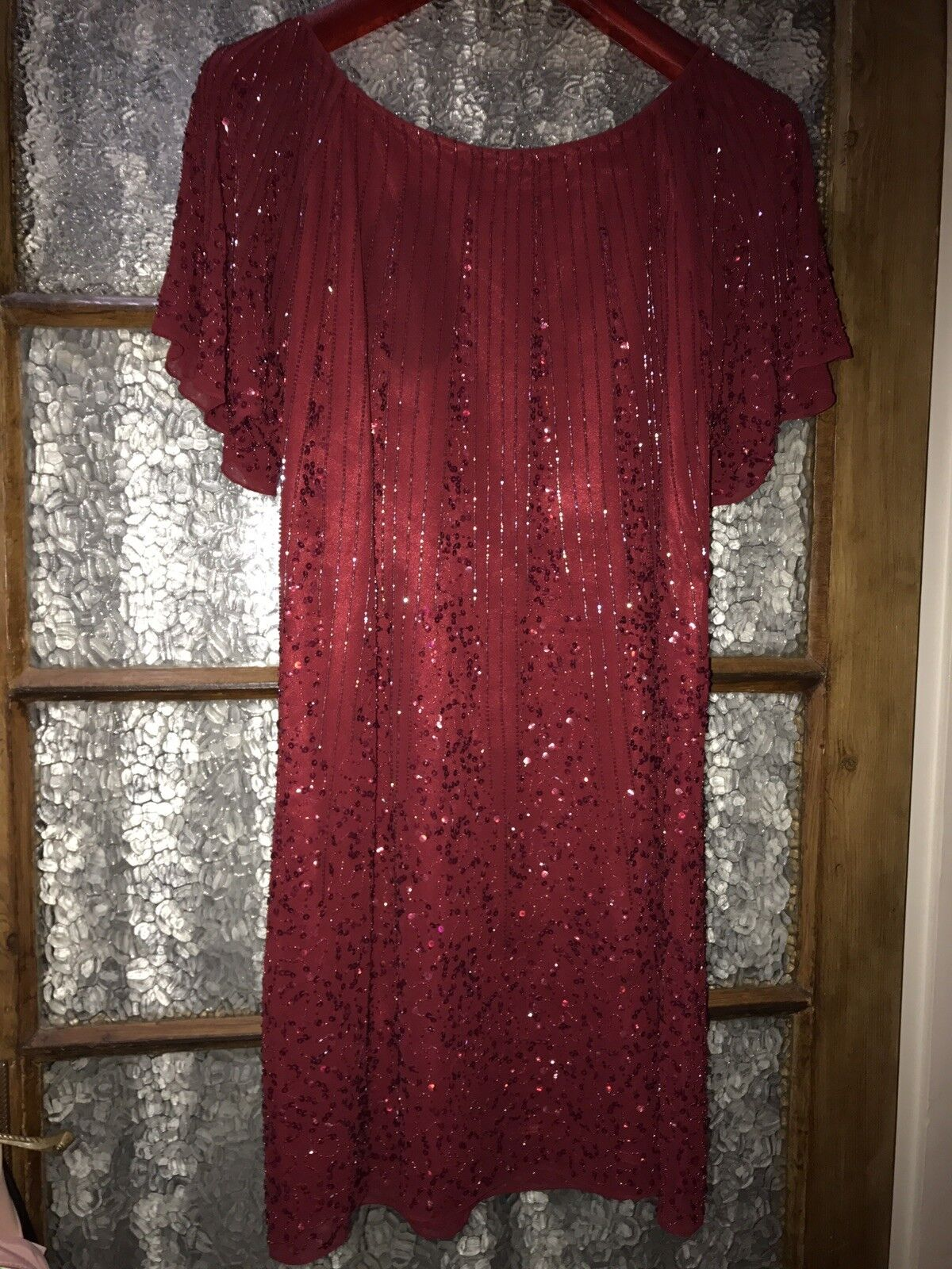 Ladies Burgundy Sequin dress by Fearne Cotton Size 12 New beautiful