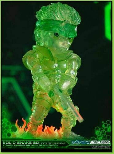 First 4 Figures Metal Gear Solid Stealth Camo fluo Snake 20 cm Idée Cadeau Officiel
