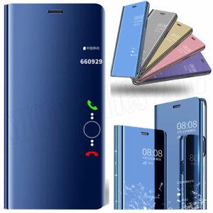 Intelligent-etui-en-Cuir-Flip-Mirror-stand-Housse-pour-Huawei-P40-P30-Pro-Mate-40-Lite