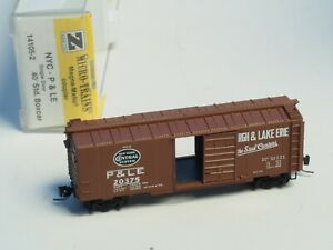VERY-EARLY-14105-2-KADEE-MicroTrains-Z-scale-40-039-box-car-NYC-amp-P-amp-LE