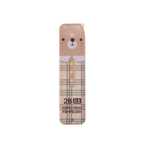 40pcs Cute Bear 2B Lead Refills Tube 0.5mm Case Mechanical Pencils vbuk 2 BOX