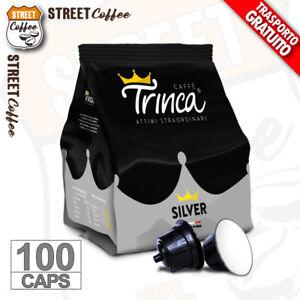 100 Capsule Cialde Caffè TRINCA SILVER compatibili Dolce Gusto Forte Corposo