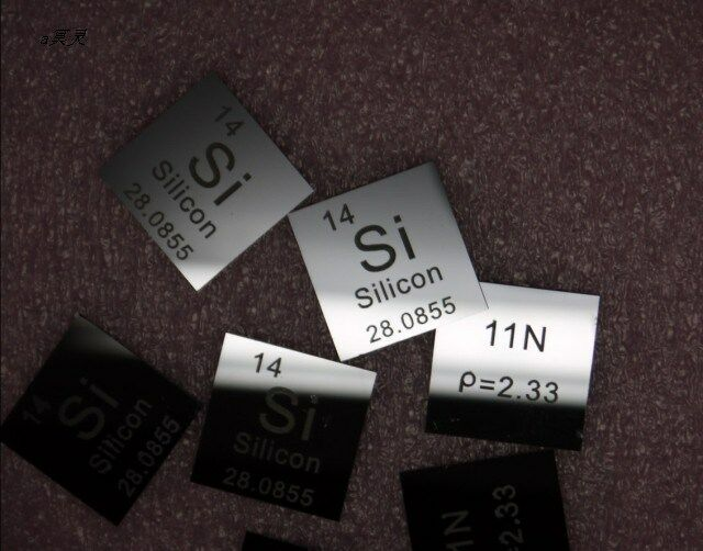 Silicon Si 11N Instrinsic Carved Element Periodic Table Sheet 0.5*20*20 mm