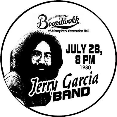 JERRY GARCIA BAND 1980 ASBURY PARK NJ Convention Hall POSTER//SIGN by THouse