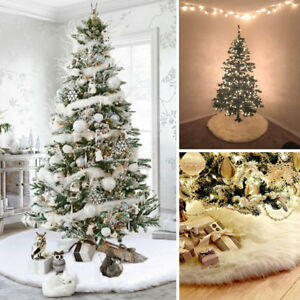 Details about Christmas Fake Snow Blanket Christmas Tree Skirt Decoration  Xmas Tree Skirt