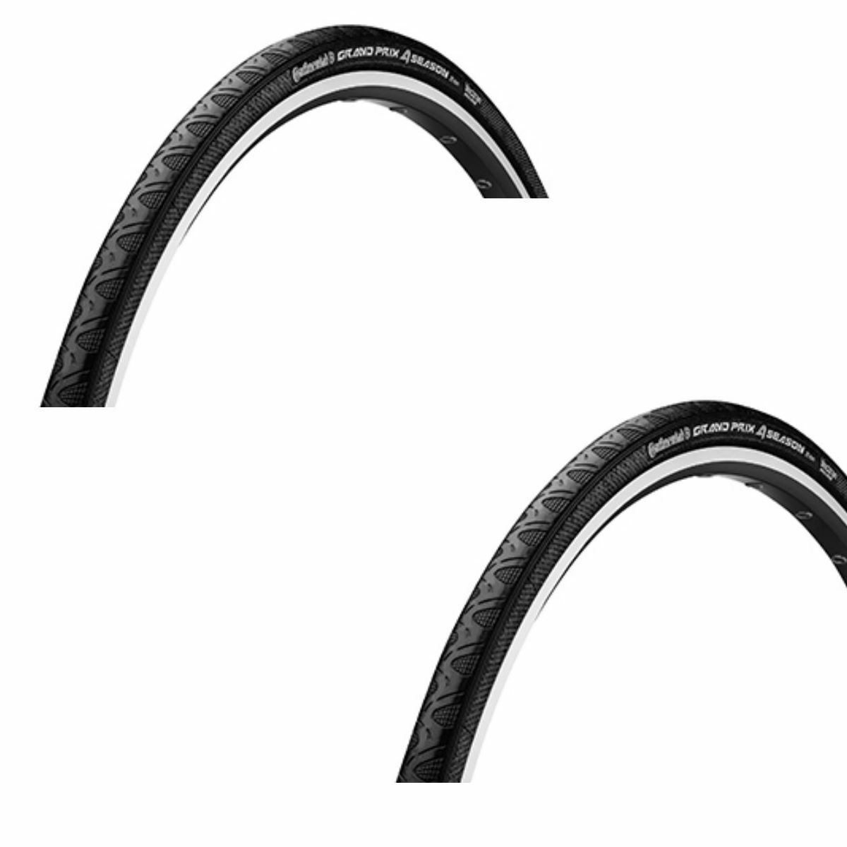Continental Grand Prix 4-season Pleated Band Set of 2 - Front Tyre + Rear Tires