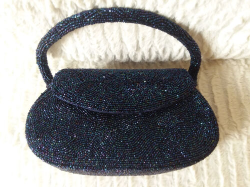 Vintage beaded purse with matching Coquette