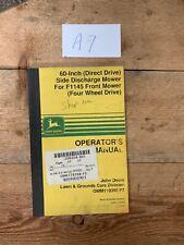 John Deere 60 Direct Drive Rear Discharge Mower For F1145 4wd Operator Manual