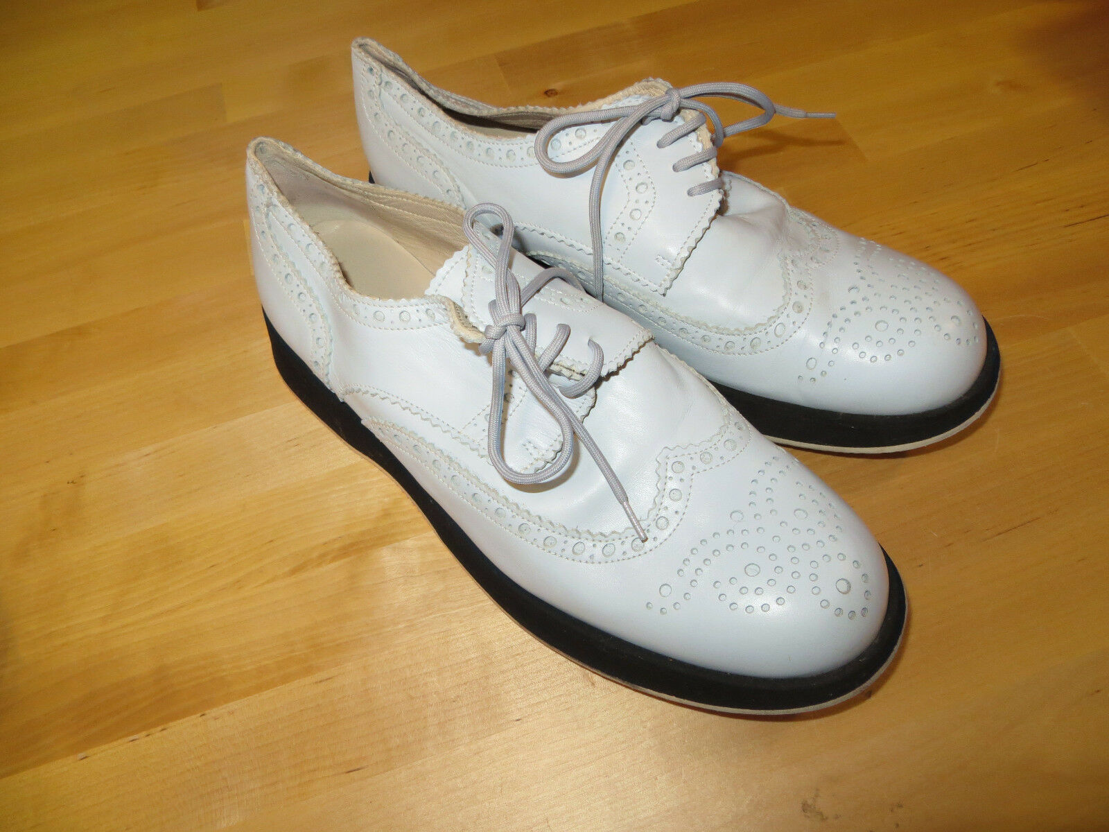 Mer du Sud Gr. 38 Leder Sneaker Halbschuhe Schnürer hellblau Leder 38 Vintagelook e0cd9f
