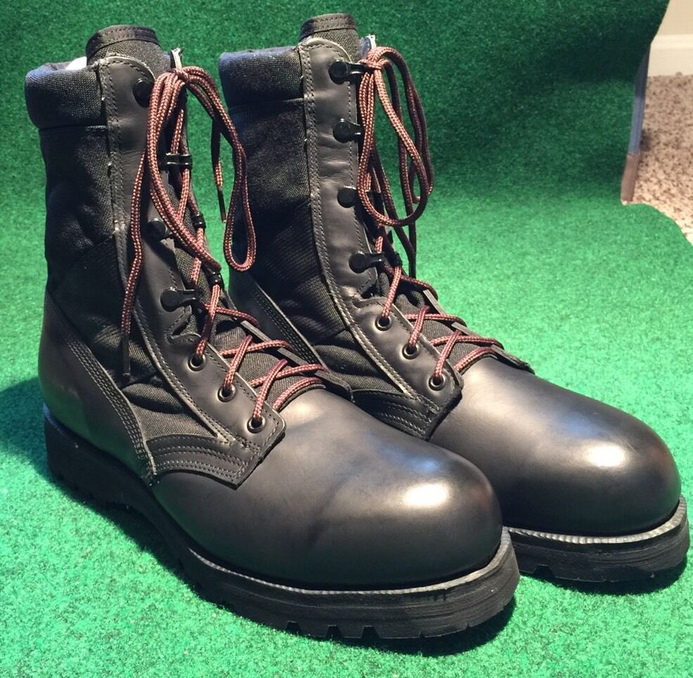 Vtg DeadStock 220 TRP ST ST ST Military Army  Combat stivali Dimensione 10.5R Made In USA 11f241