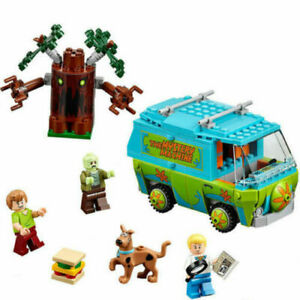 New-Scooby-Doo-Mystery-Machine-Bus-Building-Block-Building-Toys-305PCS-10430