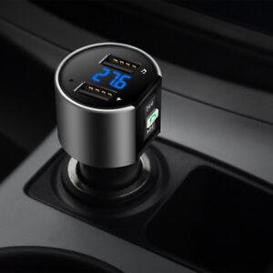 Auto-FM-Transmitter-Wireless-Radio-Adapter-MP3-Player-Dual-USB-Ladegeraet-CN