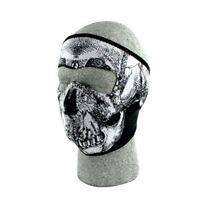 Skull Black White Neoprene Full Face Mask Motorcycle Zan Headgear Free Shipping