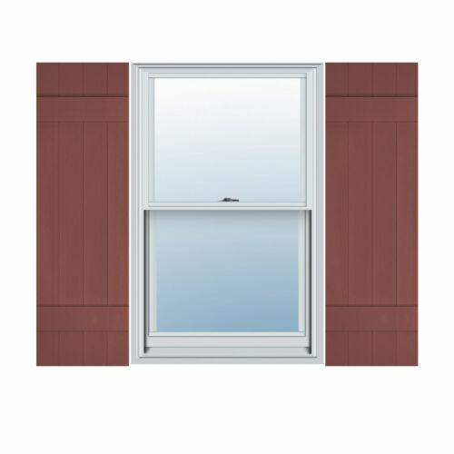 "14/"" Wide Builders Choice Vinyl Three Board Spaced Window Shutters w//Shut EVB14"