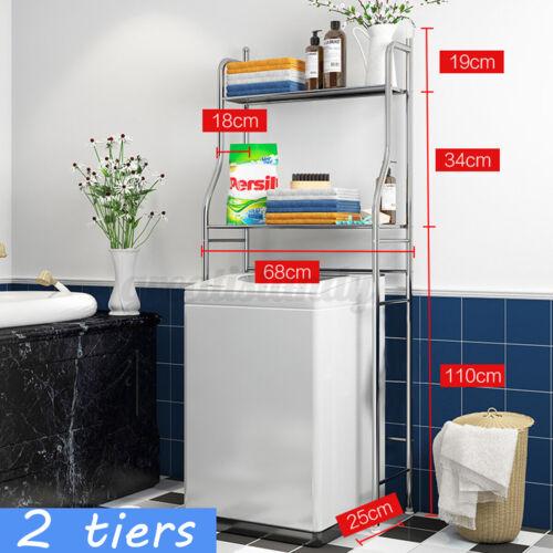 3 Tier Over Washing Machine Toilet Shelf Towel Bathroom Storage Rack Organizer