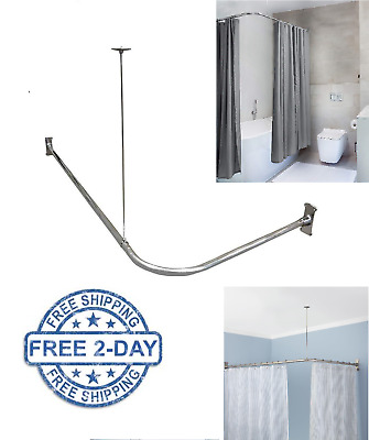 L Shaped Shower Curtain Rod Ceiling
