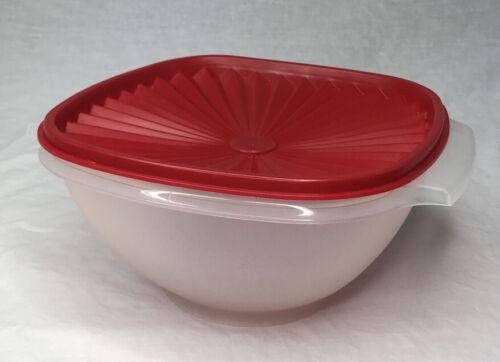 Vtg Tupperware Servalier Bowl 8 Cups Clear 836-4 /& Cranberry Lid 837-4 EUC